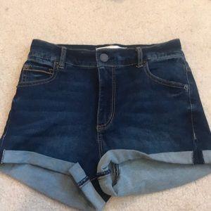 Garage jean denim shorts